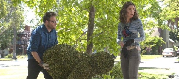 Seth Rogan humping a bush.