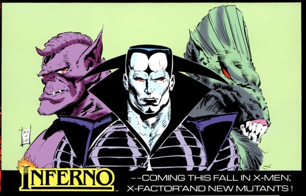 Inferno advert focusing on the villains