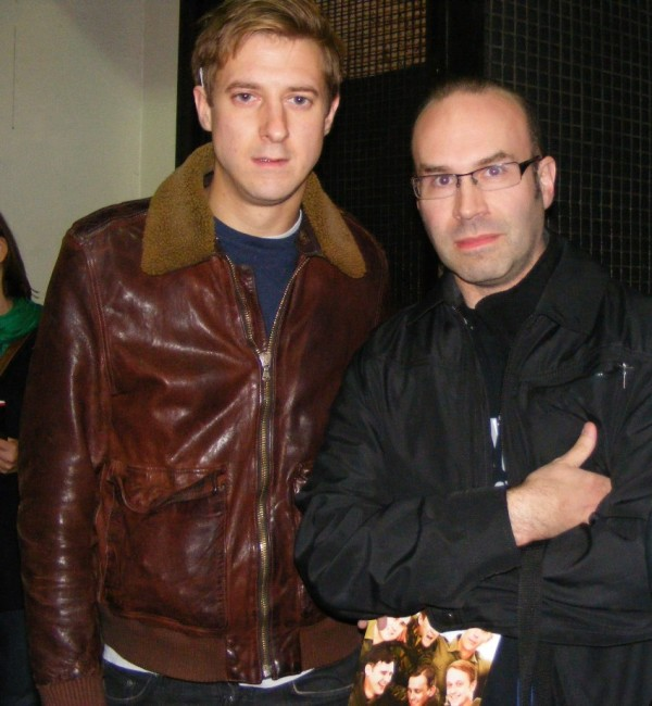 "The author with Arthur Darvill, post ""Our Boys"" matinee."