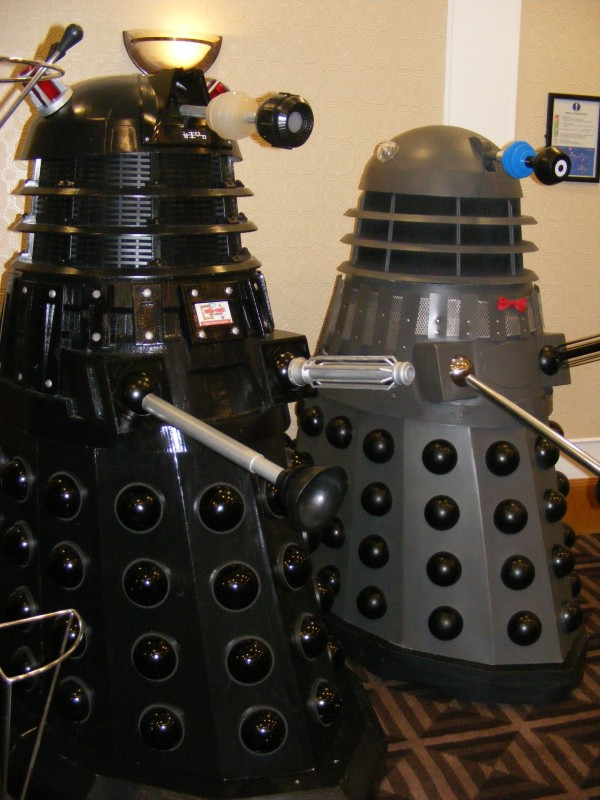Daleks taking a breather at Dimensions 2012.