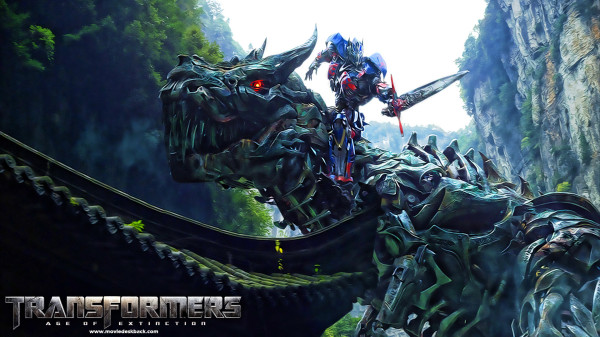 Optimus Prime Riding a Dinobot