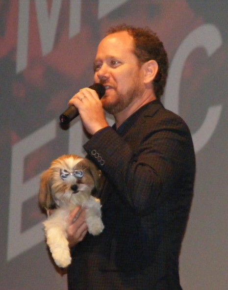 "Colin Geddes with Bonny the Shih Tzu at the world premiere of ""Seven Psychopaths"" (Midnight Madness 2012)"