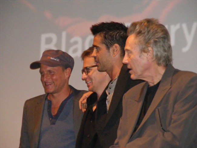 "Woody Harrelson, Sam Rockwell, Colin Farrell and Christopher Walken at the world premiere of ""Seven Psychopaths"" (Midnight Madness 2012)"