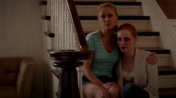 sookie-stackhouse-anna-paquin-and-jessica-hamby-deborah-ann-woll-cry-over-bill-comptons-stephen-moyer-hep-v-in-hbos-true-blood-season-7-episode-6-entitled-karma