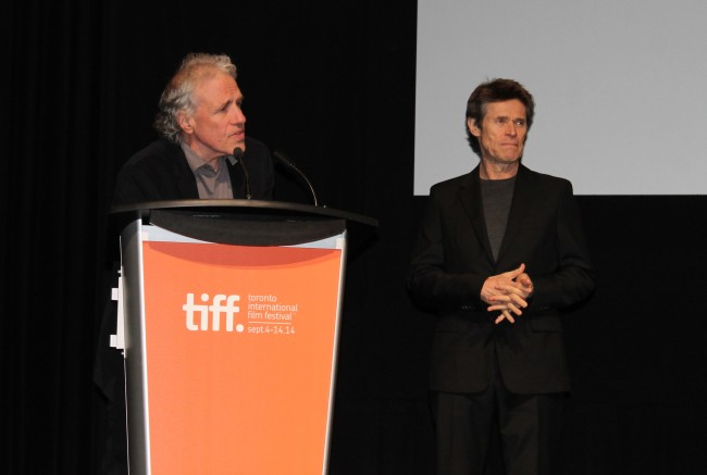 "Abel Ferrara and Willem Dafoe at the premiere of ""Pasolini"""