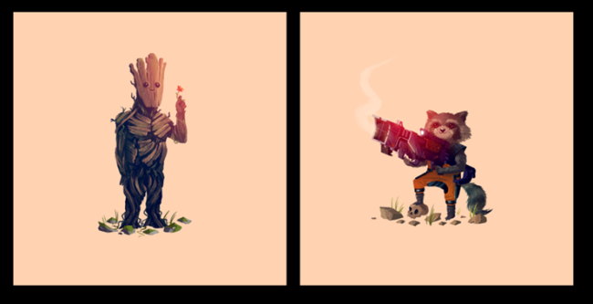 what-a-bunch-of-a-holes-guardians-of-the-galaxy-olly-moss-groot-rocket-raccoon