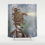 12. The Projectionist Shower Curtain $68.00