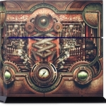 13.Steampunk Motherboard Playstation Skin $30.00