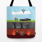 19. Supernatural - From Heaven and Hell Tote Bag $22.00