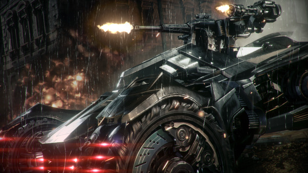 Batman: arkham knight trailer batmobile
