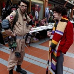 Ghostbuster and doctor who cosplay
