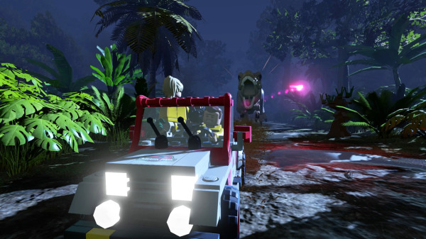 LEGO Jurassic World car chase Game Trailer