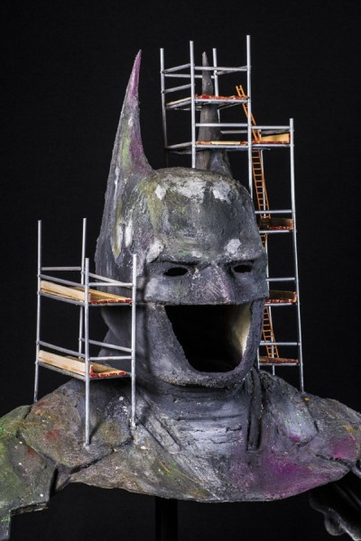 Batman cowl and cape exhibition