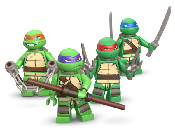 tmnt-lego-figs teenage mutant ninja turtles