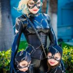 Mommy and Me Cosplay as Catwoman from Batman Returns - with kittens!