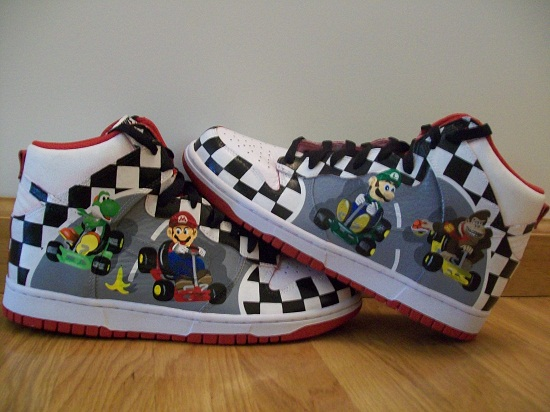 jessie-kavana-mario-kart-custom-nike-dunk-shoes-1