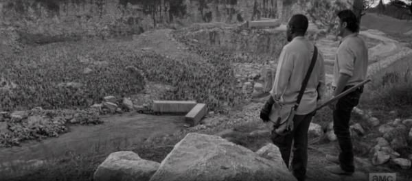 AMCs-The-Walking-Dead-Season-6-Episode-1-Black-and-White-flashback-the-quarry-670x295