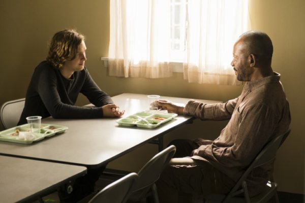 Lennie James as Morgan Jones, Logan Miller as Benjamin - The Walking Dead _ Season 7, Episode 2 - Photo Credit: Gene Page/AMC